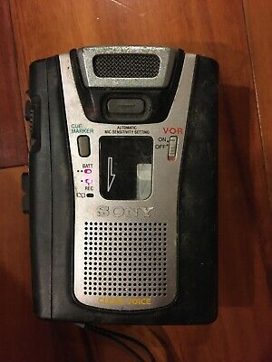 Sony TCM-465V Handheld Cassette Clear Voice Activated Tape Recorder #3313