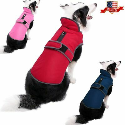 US Waterproof Clothes Winter Warm Pet Dog For Small Medium Large Dog Coat Jacket