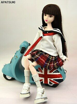 """Fashion Doll Clothes For 11.5"""" 1/6 Doll Outfits Students Shirt & Pleated Skirt"""