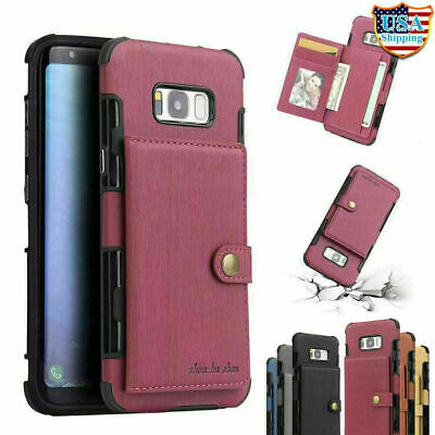 For Galaxy S10 E S20 Ultra S9 S8 Plus NOTE 10 9 8 Leather Case Wallet Card Cover