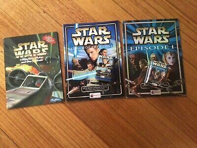 3 x STAR WARS STICKER ALBUMS COMPLETE WITH ALL STICKERS (Not Inserted)