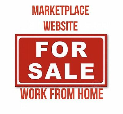 Website Ready - Marketplace Website For Sale. Work From Home. Make An Offer