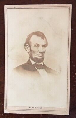 Civil War, Early 1860's *Abraham Lincoln  CDV,  Died April 15th, 1865