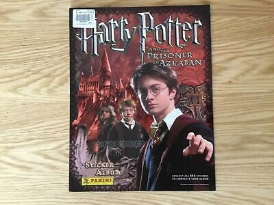 HARRY POTTER AND THE PRISONER OF AZKABAN EMPTY STICKER ALBUM By PANINI