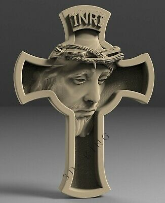 3D STL Model # JESUS & CROSS # for CNC 3d Printer Engraver Carving Aspire Artcam