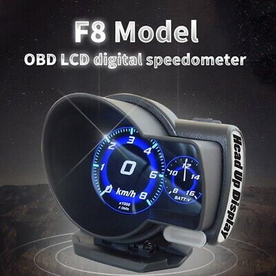 F8 Obd Head-Up Digitale Geschwindigkeit Hud Display Auto Tacho Obd2 Turbo L M6G1