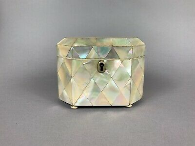 19th Century Mother Of Pearl Tea Caddy