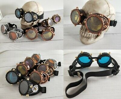 Gothic Steampunk Wire Gauze Rivet Goggle Cosplay Halloween Party Prop Unisex