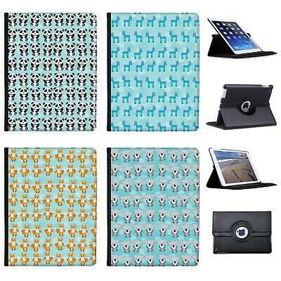 Azzumo Cute Cuddly Animal Unicorn Pattern Faux Leather Case Cover for Apple iPad