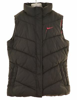 NIKE Girls Padded Gilet 14-15 Years XL Grey Polyester  MV52