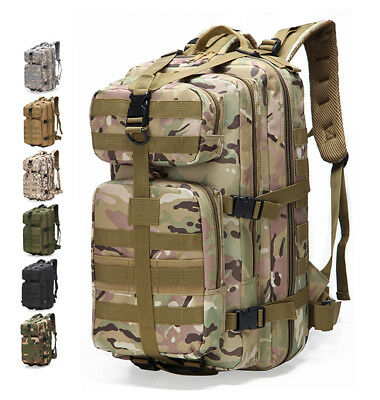 30L Outdoor Travel Military Tactical Camping Hiking Trekking Backpack Rucksack