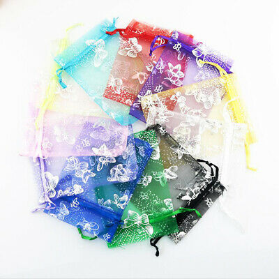 25XSmall Organza Bags Wedding Party Favour Gift Bag Xmas Jewellery Pouches Large