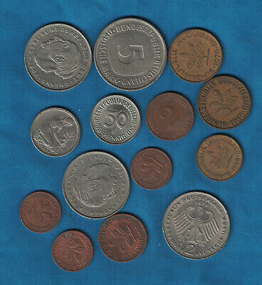 Assortment of 14 German Coins over 12 Marks.