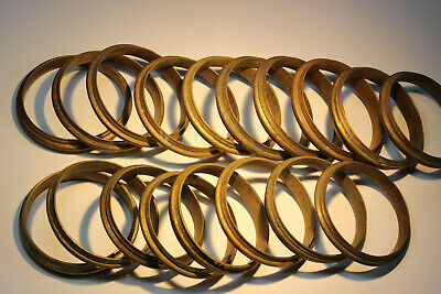 18 Antique French Solid Brass Profiled Curtain Rings (Lot 1 of 2).