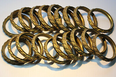 20 Antique French Profiled Brass Curtain Rings.
