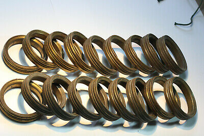 18 Antique French Profiled Brass Curtain Rings (Lot 1 of 2).