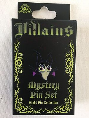 Disney Parks Villains Pin Mystery Box Sealed Includes 2 Pins -Maleficent? Scar?