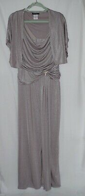 Tiana-B Evening/ Cruise Long Dress With Jacket Colour Champagne Size 16