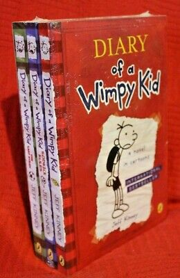 NEW Jeff Kinney Diary of a Wimpy Kid 3 Books Collection Jeff Kinney SEALED