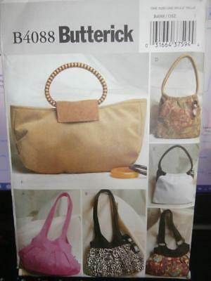 Butterick Sewing Pattern B4088 Woman's Purses
