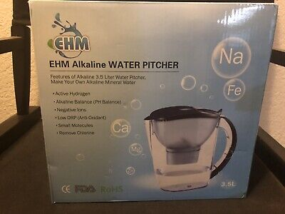 Water Coolers Filters Home Kitchen Healthy Ehm Ultra Ii Premium Alkaline Water Pitcher Clean Toxin Free Mineralized Alkaline Water In Minutes Up To Ph 9 5 3 8l Pure Healthy Water Ionizer