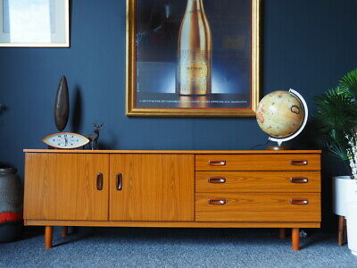 VTG Mid Century Low Lying Pale Teak Sideboard UK DELIVERY AVAILABLE