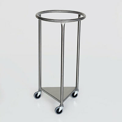 "MCM-2000 Round Top 18"" Stainless Steel Linen Hamper New"