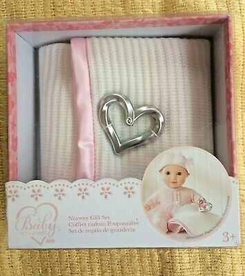 You & Me Baby So Sweet Knit Doll Blanket with Rattle Nursery Gift Set