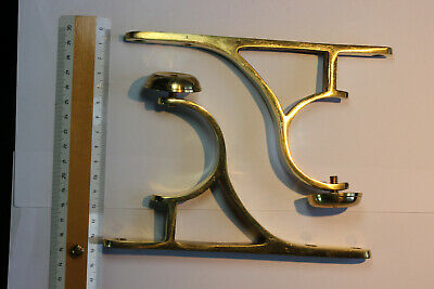 Pair Large Vintage Brass Curtain Pole Brackets (for a 55-60mm diameter pole)