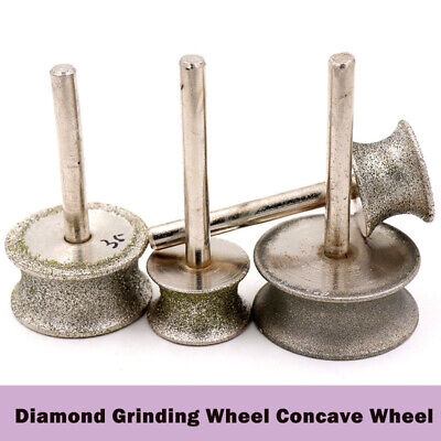 Diamond Grinding Concave Wheel 20mm-50mm Shank 6mm Jade carving Tools Circular