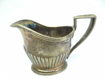 Vintage Used GM Co Lawyers Club 3/16 Pint Mini Creamer Serving Silverplate