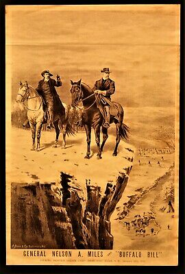 BUFFALO BILL CODY Original Lithograph by A. Hoen & Co. 1892