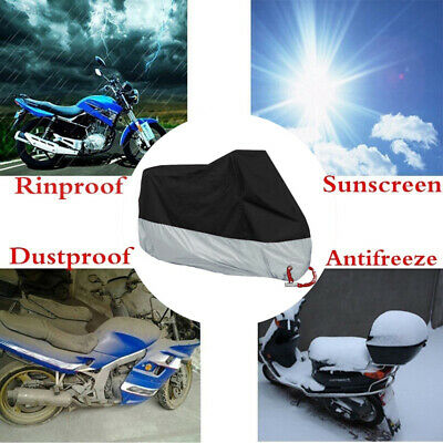 UV 50+ Anti-Thief Lock Hole Motorbike Cover Motorcycle Oxford Cloth Cover XXL
