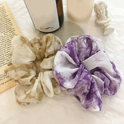 Women Gradient Color Hair Rope Chiffon Elastic Hair Accessories Ponytail Holder