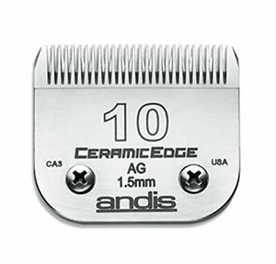 Andis CeramicEdge Carbon-Infused Steel Pet Clipper Blade, Size-10, 1/16-Inch Cut