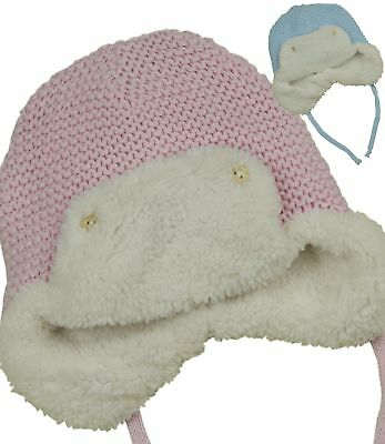 BabyPrem Baby Hat Large Pom Pom Nepalese Winter Warm Clothes Cap Pink Blue White