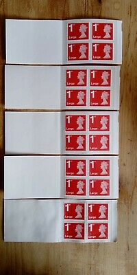 20 x Royal Mail First Class Large Letter size 1st Class (5 books of 4)