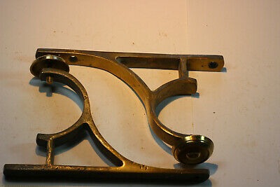 Pair Antique Brass Curtain Pole Brackets/Supports (for a 55mm pole)