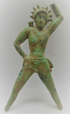European Finds Ancient Roman Bronze Statue Of Sol Invictus Circa 200-300Ad