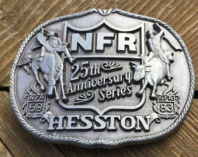 Hesston National Finals Rodeo 25th Anniversary PRCA Belt Buckle