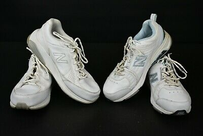 Lot of 2 Pair of New Balance Women's 9.5 Lace Up Running Sneakers White