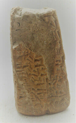 Scarce Circa 3000Bc Ancient Near Eastern Clay Object With Early Form Of Writing