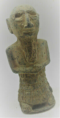 Rare Ancient Near Eastern Bronze Worshipper Figurine Circa 500Bce
