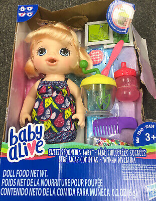 Baby Alive Sweet Spoonfuls Doll HASBRO Officially Licensed NIB New