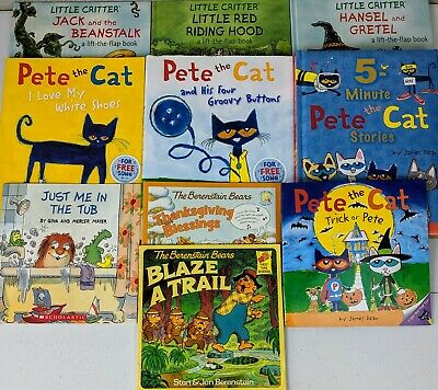 Lot Of 10 Children's Books.  Pete The Cat. Little Critter.  Berenstein Bear(23e)