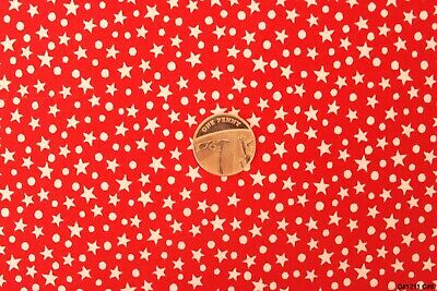 """100% 45"""" Craft Cotton Poplin Printed Fabric Stars+Dots  Pattern Also Face Mask"""