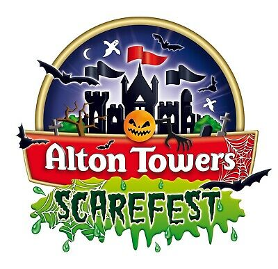 Flexible Alton Towers Scarefest Ticket - Use Anyday In October 2019