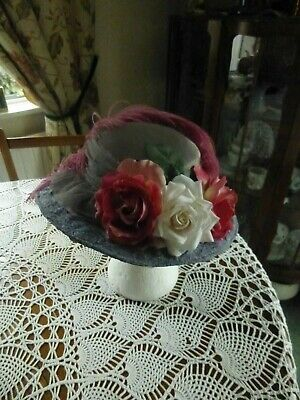 VICTORIAN STYLE HAT SIZE 55cms/SMALL PERFECT FOR REENACTMENT