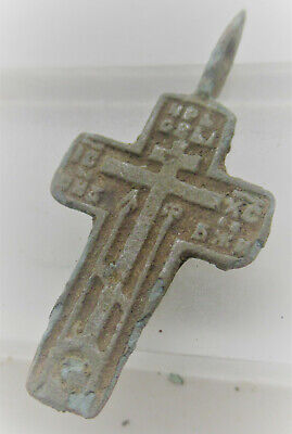 Beautiful Late Medieval Religious Crucifix Cross Pendant Wearable Artefact