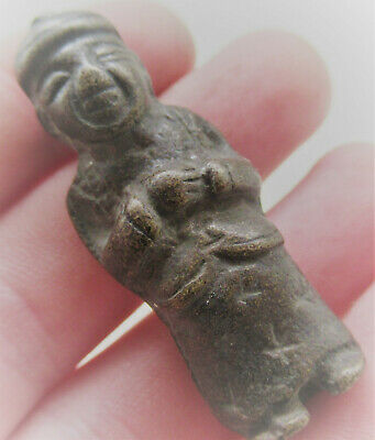 Circa 200-300Ad Ancient Gandhara Bronze Votive Figurine